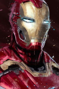 Iron Man Digital Spray Painting 4k