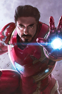 Iron Man Endgame Art