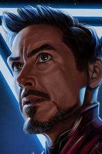 Iron Man Face Portrait 4k