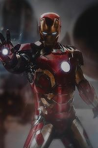 Iron Man Fire 4k