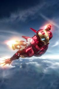 1280x2120 Iron Man Flying 5k