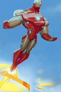 2160x3840 Iron Man Flying Hero