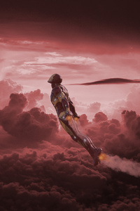 Iron Man Flying On Titan