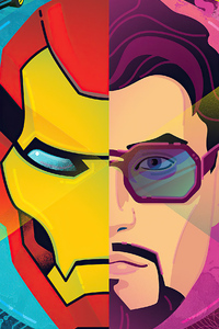 720x1280 Iron Man Fortnite 2021 4k