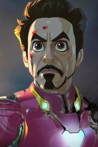 Iron Man Gauntlet Cartoon Art