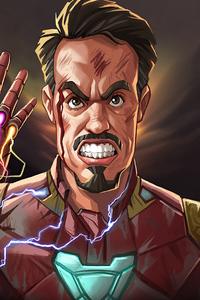 720x1280 Iron Man Gauntlet Snap 4k
