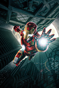 480x800 Iron Man Going Down 5k