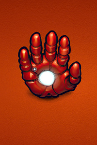Iron Man Hand Minimal 4k