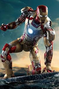 1080x2280 Iron Man Helmet Closed 8k
