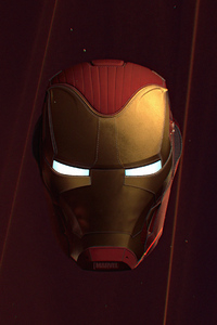480x800 Iron Man Helmet Glowing Eyes 4k