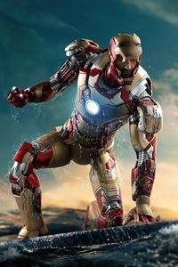 360x640 Iron Man Helmet Opened 8k