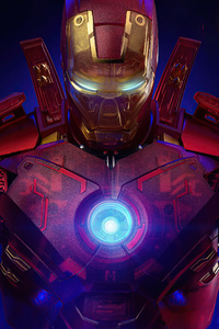 Iron Man Holographic 4k 2020