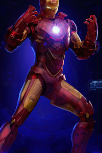 1242x2688 Iron Man Holographic Suit