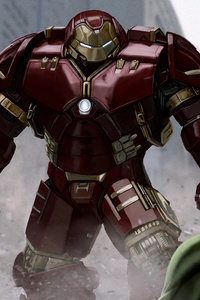Iron Man Hulkbuster VS The Hulk 4k Artwork