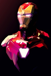 1242x2688 Iron Man Illustration 2020