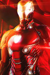 720x1280 Iron Man Illustrator 4k