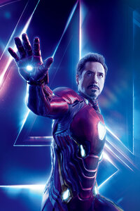 1125x2436 Iron Man In Avengers Infinity War 8k Poster