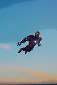 Iron Man In Sky