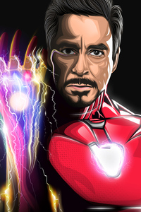 Iron Man Infinity Gauntlet Art