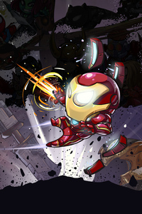 2160x3840 Iron Man Little Art