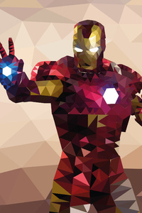 Iron Man Low Poly 4k Artwork