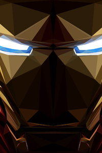 Iron Man Low Poly Artwork