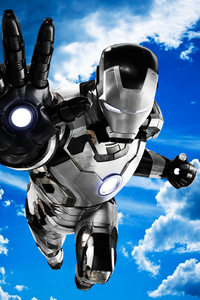 Iron Man Mark 42 Black And White