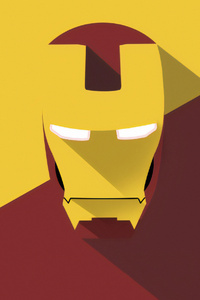 Iron Man Mask Minimal Art