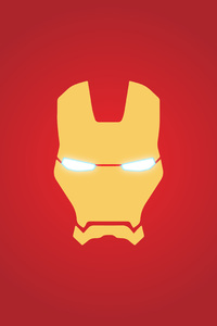 1242x2688 Iron Man Mask Minimal