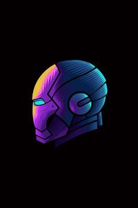 1080x1920 Iron Man Mask Minimalism 4k