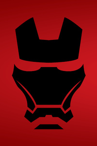 Iron Man Mask Minimalist 8k