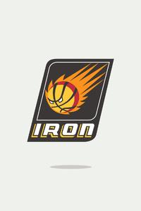 Iron Man Minimal Logo 4k