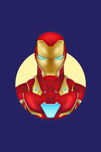 1080x1920 Iron Man Minimalism 4k 2020