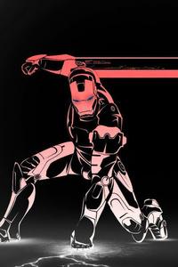 640x960 Iron Man Minimalism 4k New