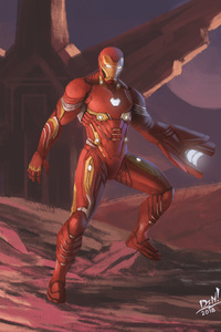 Iron Man Nanosuit In Avengers Infinity War