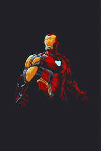 1440x2560 Iron Man New Minimalism 2020