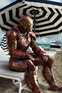 Iron Man On Beach