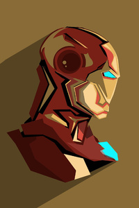 720x1280 Iron Man Pop Head Minimalism
