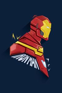 720x1280 Iron Man Pophead Minimal 5k