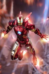2160x3840 Iron Man Powerful Flight