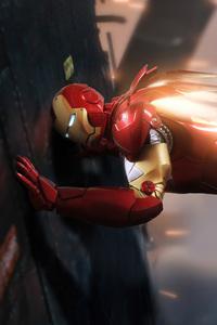 360x640 Iron Man Pushing Wall 8k