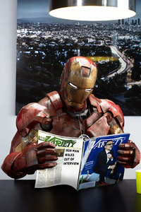 Iron Man Reading Magazine