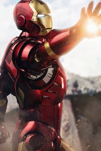480x800 Iron Man Ready Fight