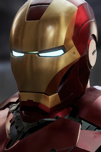 Iron Man Red Suit 4k