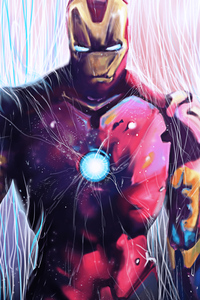 800x1280 Iron Man Red Suit 4k 2020
