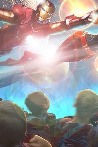 1080x2160 Iron Man Roller Coaster