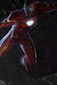 320x480 Iron Man Saving Spider Man