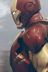 240x320 Iron Man Seeing City