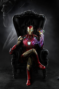 480x854 Iron Man Sitting 4k