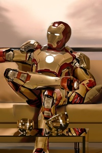 Iron Man Sitting On Sofa